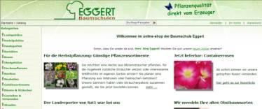 Screenshot des neuen online-shops